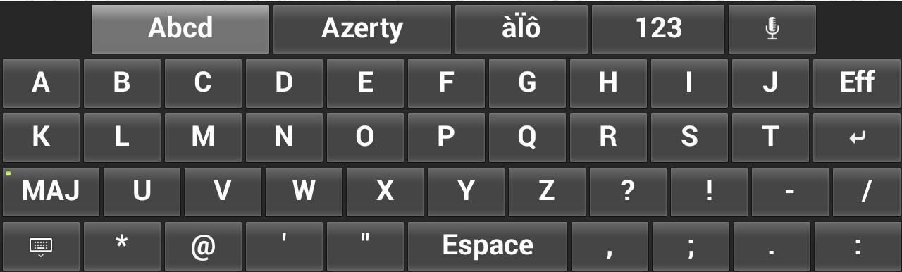 Une tablette tactile pour les seniors cr e par cdip for Les parties du clavier