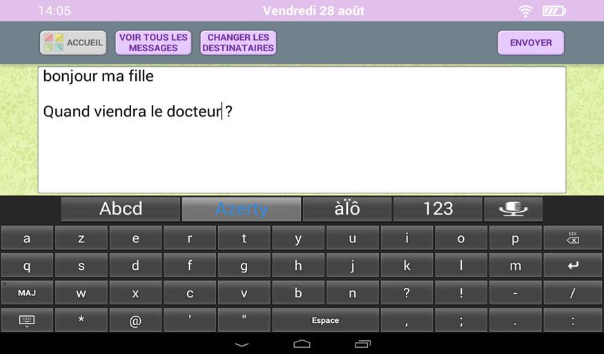 Choix du clavier