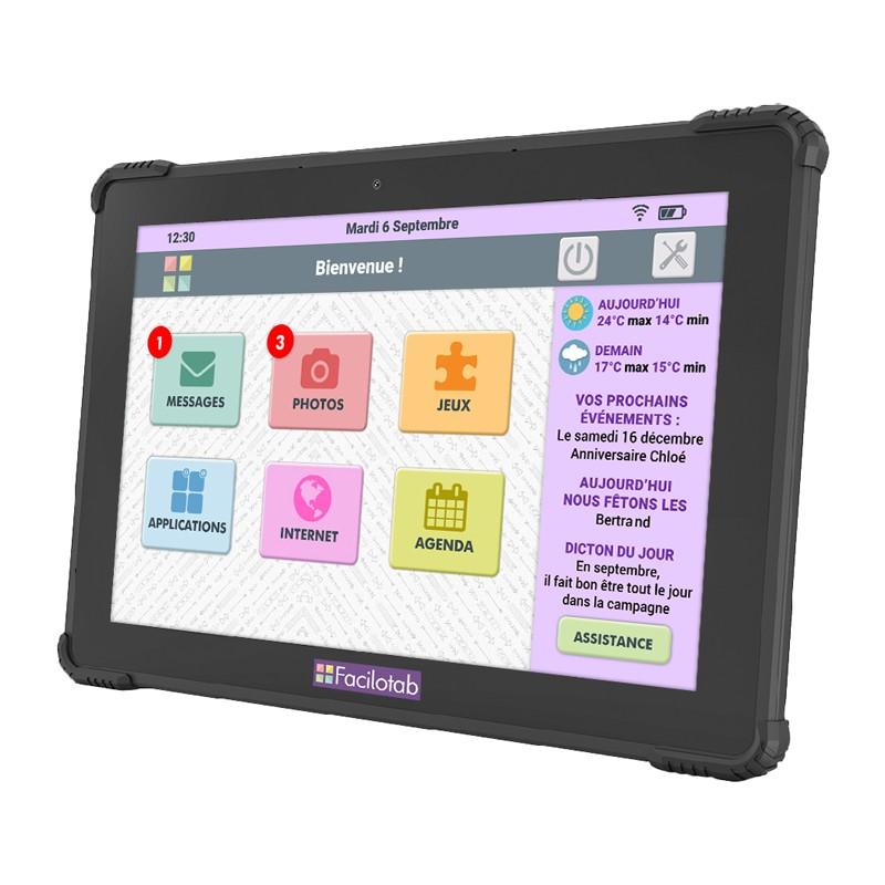 tablette facilotab l onyx 10 1 pouces wifi 4g 32 go. Black Bedroom Furniture Sets. Home Design Ideas