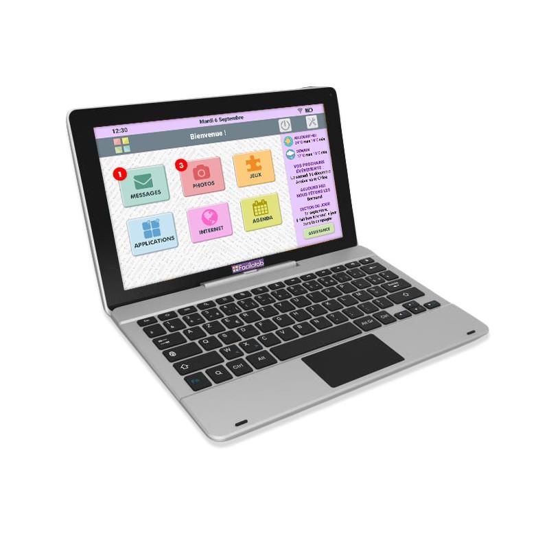 tablette facilotab xl avec clavier 11 6 pouces wifi 16 go android 7 interface simplifi e. Black Bedroom Furniture Sets. Home Design Ideas
