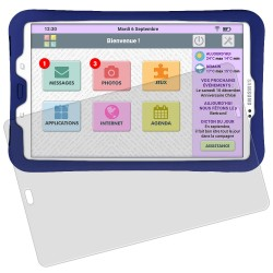 Kit de Protection pour tablette Facilotab L  Galaxy - Coque silicone + Vitre en verre trempée