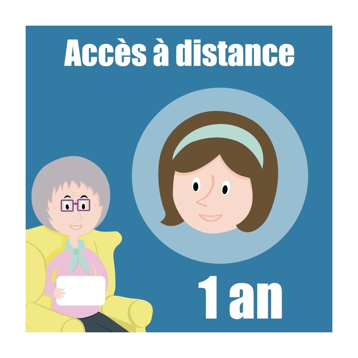 Abonnement d'un an pour l'accès au service d'accompagnement à distance