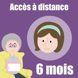 Abonnement de 6 mois pour l'accès au service d'accompagnement à distance