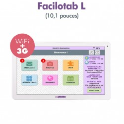 Tablet Facilotab L 10.1 inch WiFi / 3 G + - 32 GB - Android 7 (Interface simplified for Seniors)