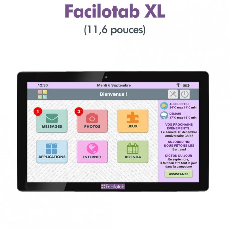 Tablette Facilotab 11,6 p WiFi