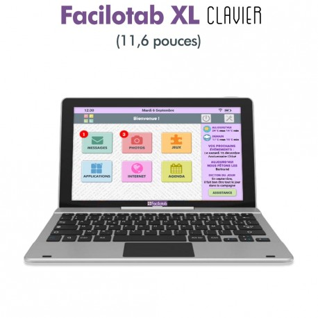 Tablette senior Facilotab XL WiFi avec clavier