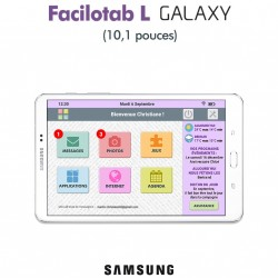 Tablette Facilotab L Galaxy 10,1 pouces WiFi - 32Go - Android 7 (Interface simplifiée pour Seniors)
