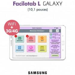 Tablette Facilotab L Galaxy 10,1 pouces WiFi/4G - 32Go - Android 7 (Interface simplifiée pour Seniors)