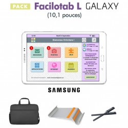 Pack Facilotab L Galaxy + Support + Sacoche + Stylet