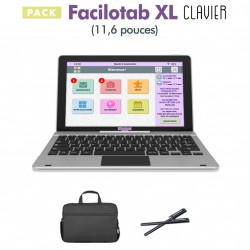Pack Facilotab XL clavier 11,6 pouces WiFi - 16 Go - Android 7 + Sacoche + 2 Stylets (Tablette pour Seniors)