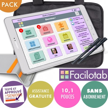 Pack Facilotab L Galaxy 4G SAMSUNG + Support + Sacoche + Stylet