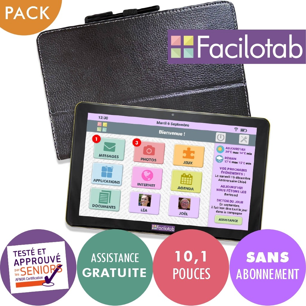 Tablette senior Facilotab L WiFi/3G