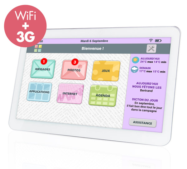 Tablette senior Facilotab