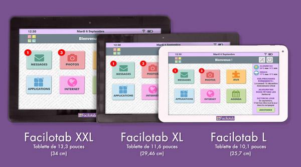 Les 3 formats de tablette Facilotab