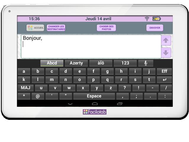 tablette tactile pour seniors facilotab la tablette facile. Black Bedroom Furniture Sets. Home Design Ideas