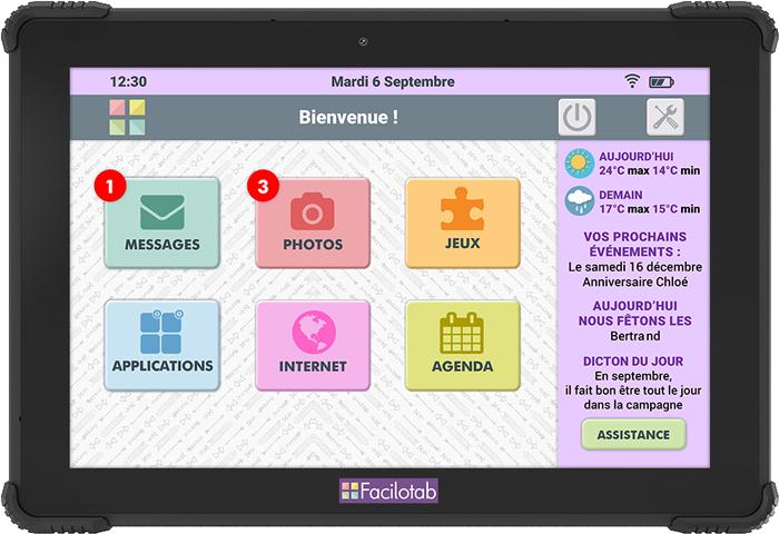 Nouvelle Tablette Facilotab L Onyx