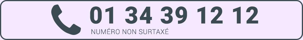 Numéro de téléphone en France 01 34 39 12 12 non surtaxé